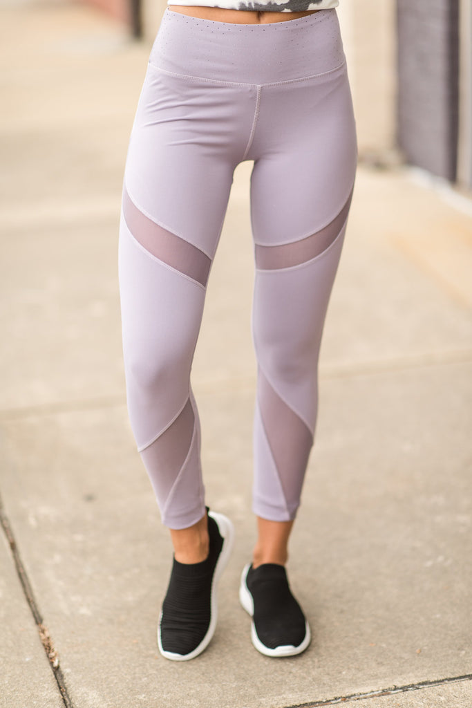 Can't Stop This Hustle Leggings, Lilac Gray