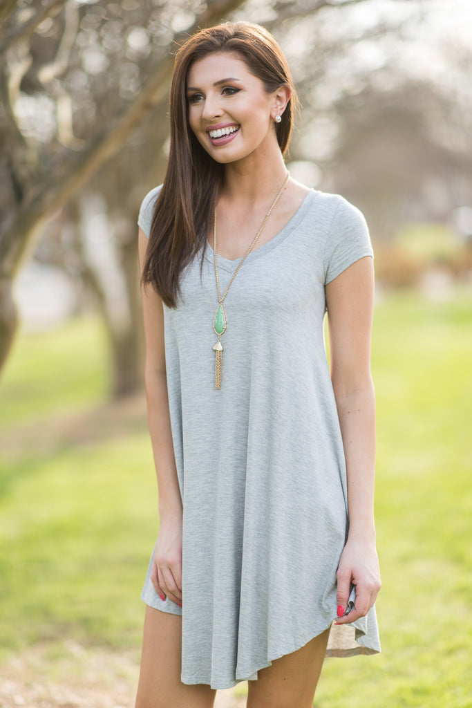 Main Street Traveling Dress, Heather Gray