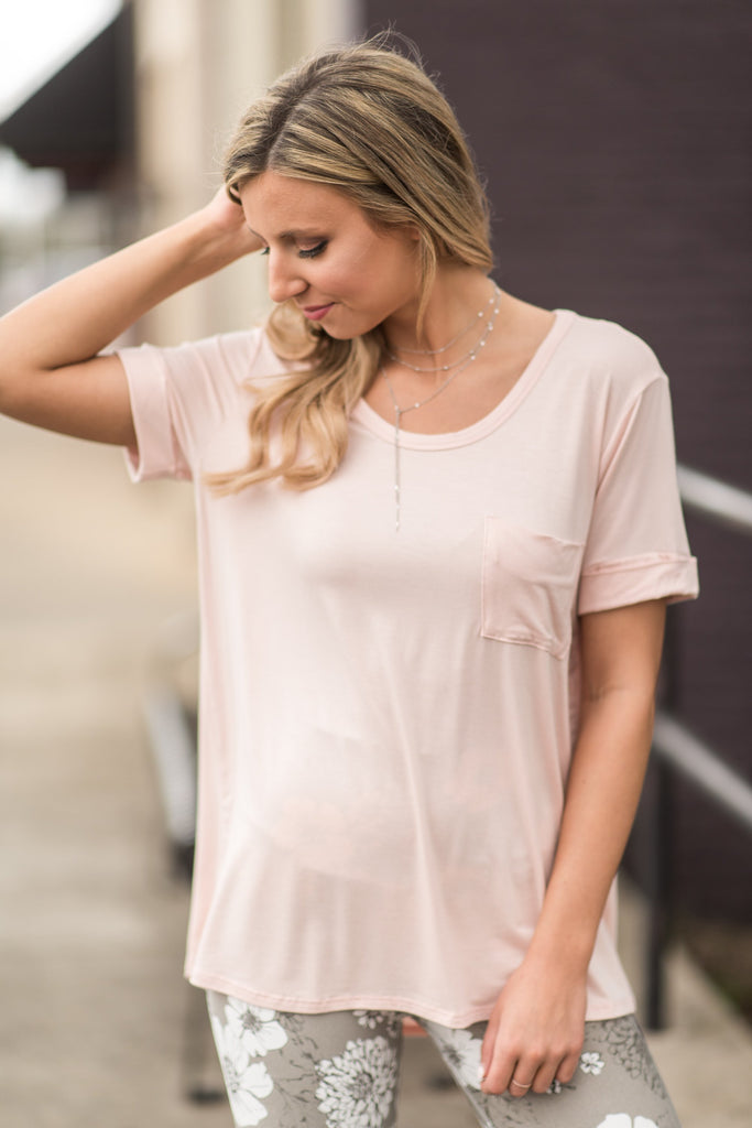 Hooked On You Tee, Blush