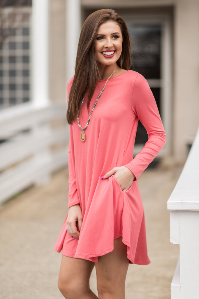 The Life For Me Dress, Coral