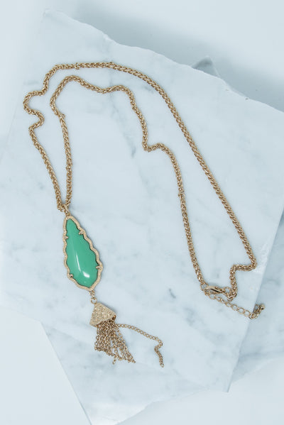 Fab And Fearless Necklace, Mint-Gold
