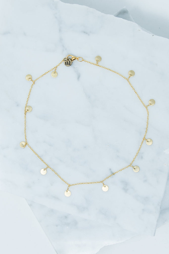 choker, gold, pendant, simple, necklace