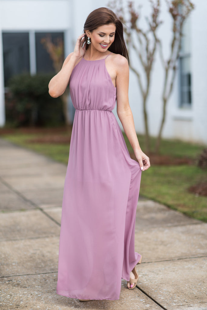 Fantasy World Maxi Dress, Purple