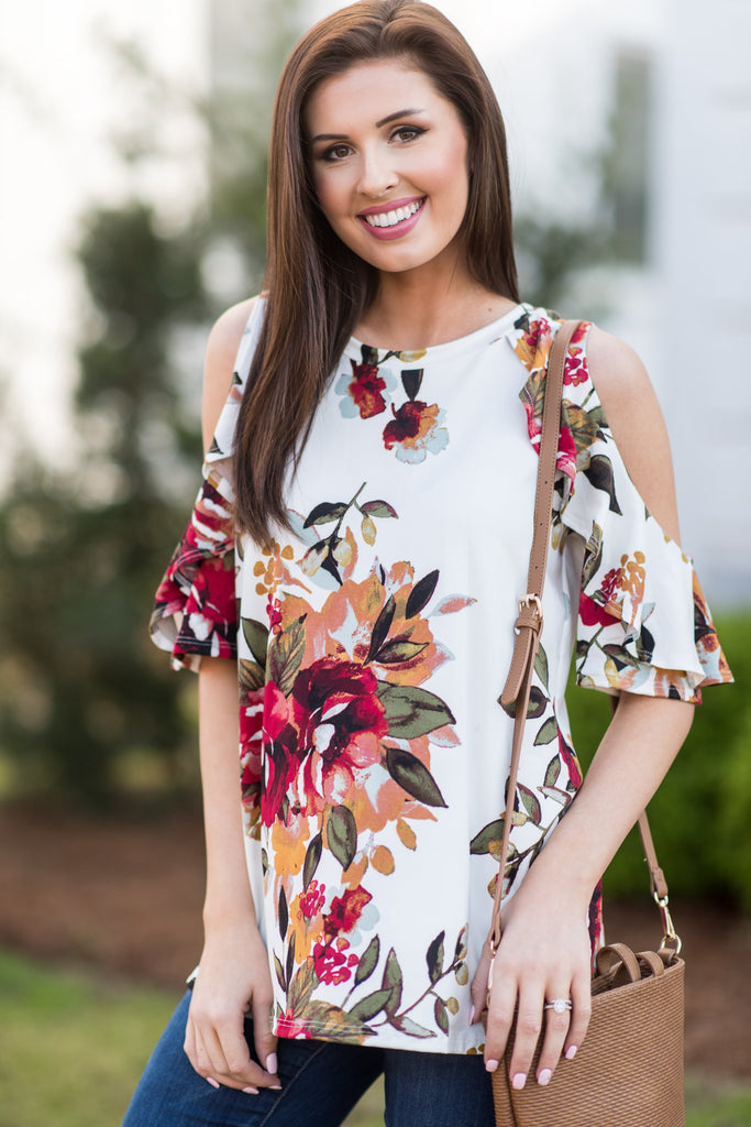 Bold Business Top, Ivory