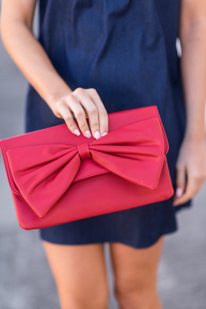 Sealed With Love Clutch, Red
