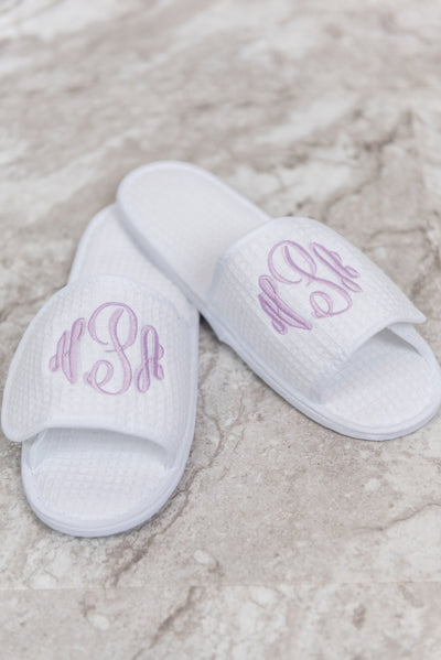Spa Day Slippers, White