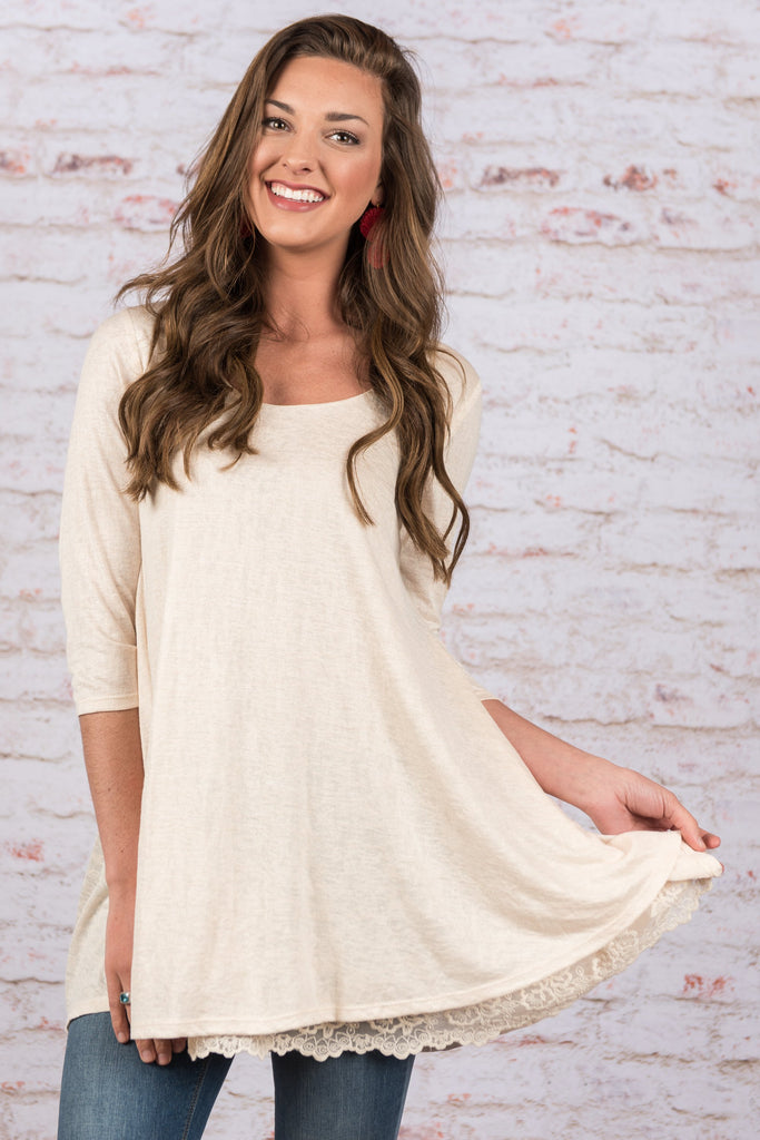 Lean On You Tunic, Natural