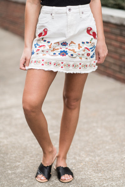Sing Me A Song Skirt, White