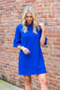 Beauty Personified Dress, Royal Blue
