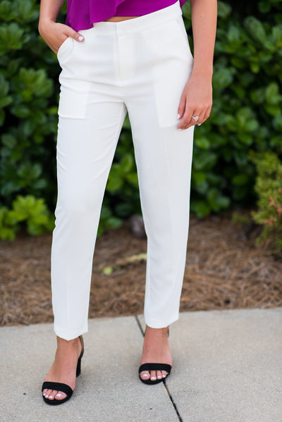 The It Girl Pants, White