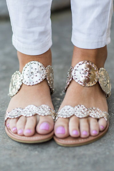 Make Your Own Luck Sandals, Gold