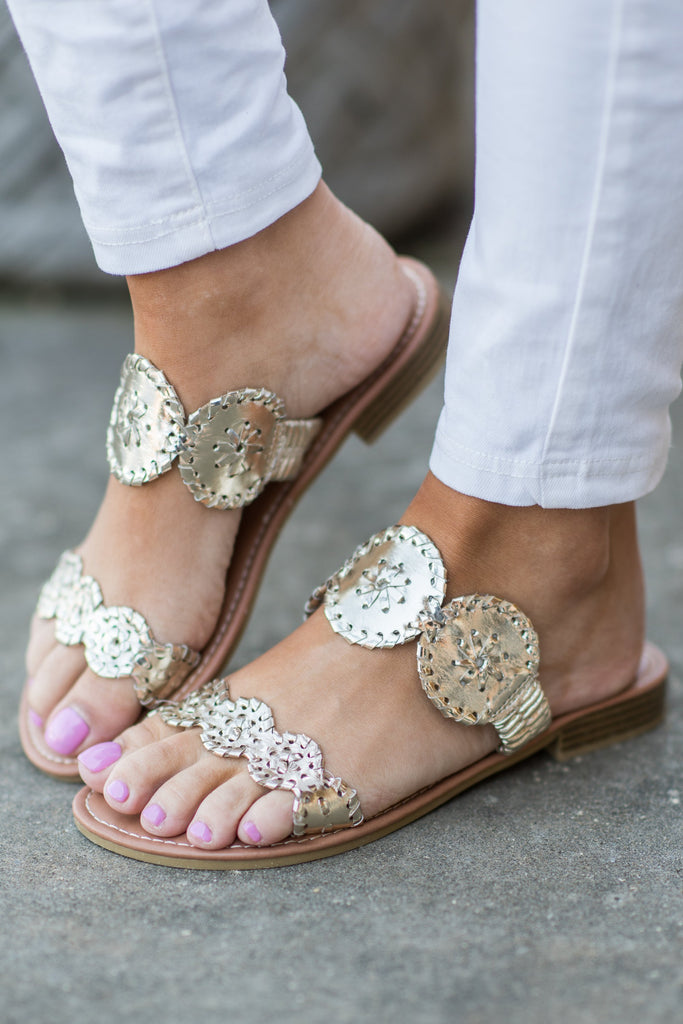 Make Your Own Luck Gold Metallic Sandals