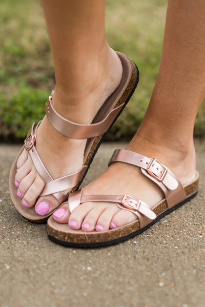 Today And Everyday Sandals, Rose Gold