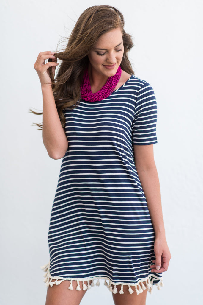 Festive And Fun Dress, Navy