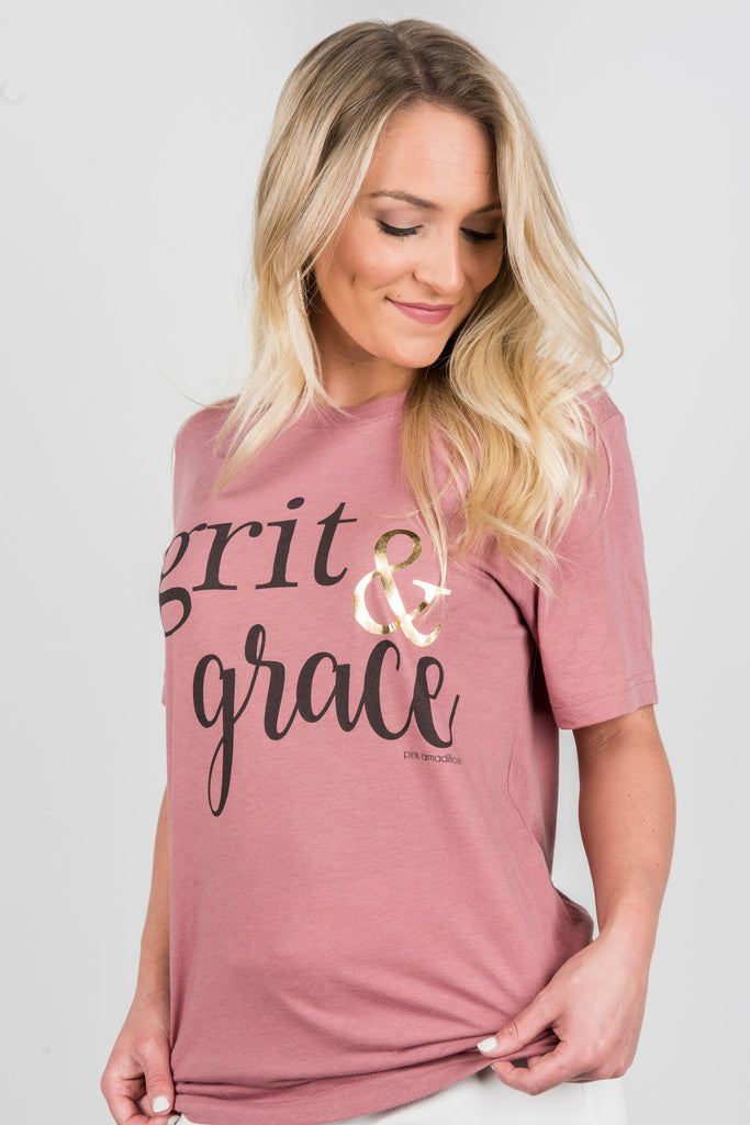 Grit And Grace Tee, Mauve