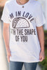 I'm In Love Tee, White