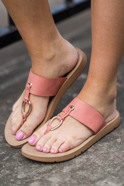 Need You Now Sandals, Mauve