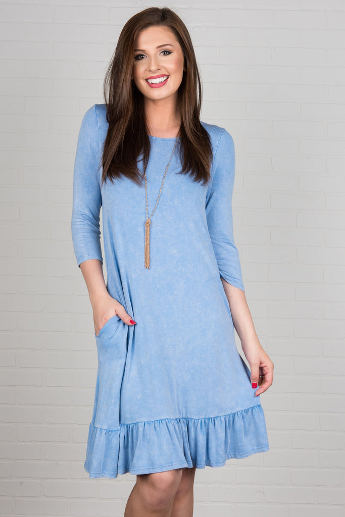 Always Be Cute Dress, Indigo