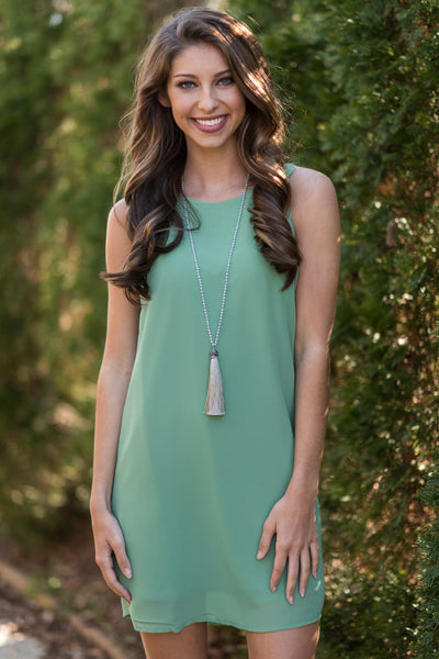 Off To A Classy Start Dress, Soft Green