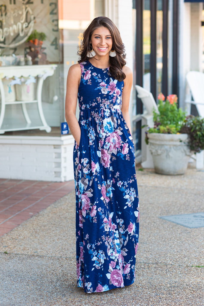 A Day In Love Maxi Dress, Navy