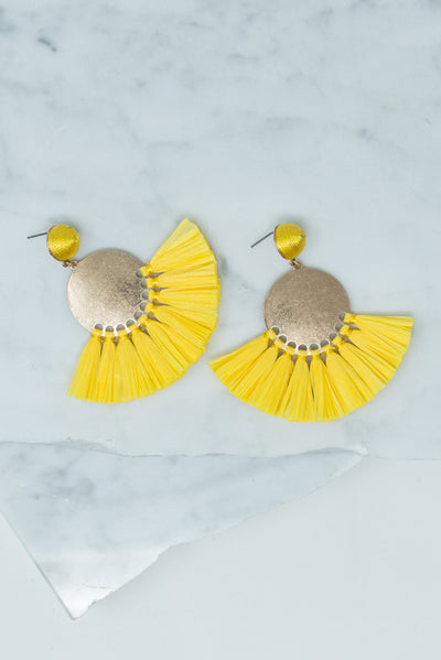 New To Nassau Earrings, Yellow