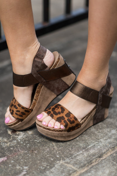 Walk On Role Wedges, Brown