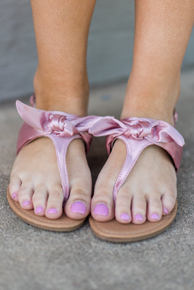 Once You're Here Sandals, Blush