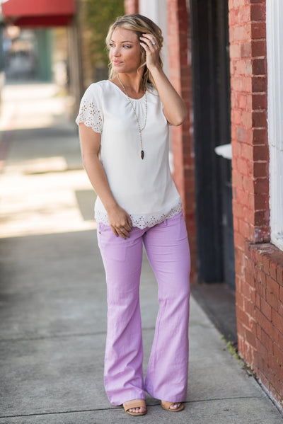Legendary Weekends Pants, Lilac