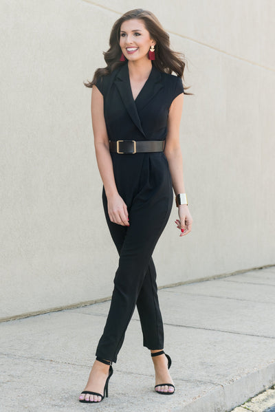 Be The Boss Jumpsuit, Black