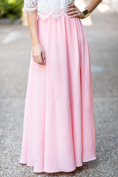 Beautiful Moment Maxi Skirt, Peach