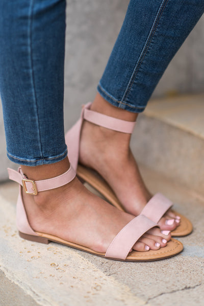 Ready For Anything Sandals, Blush