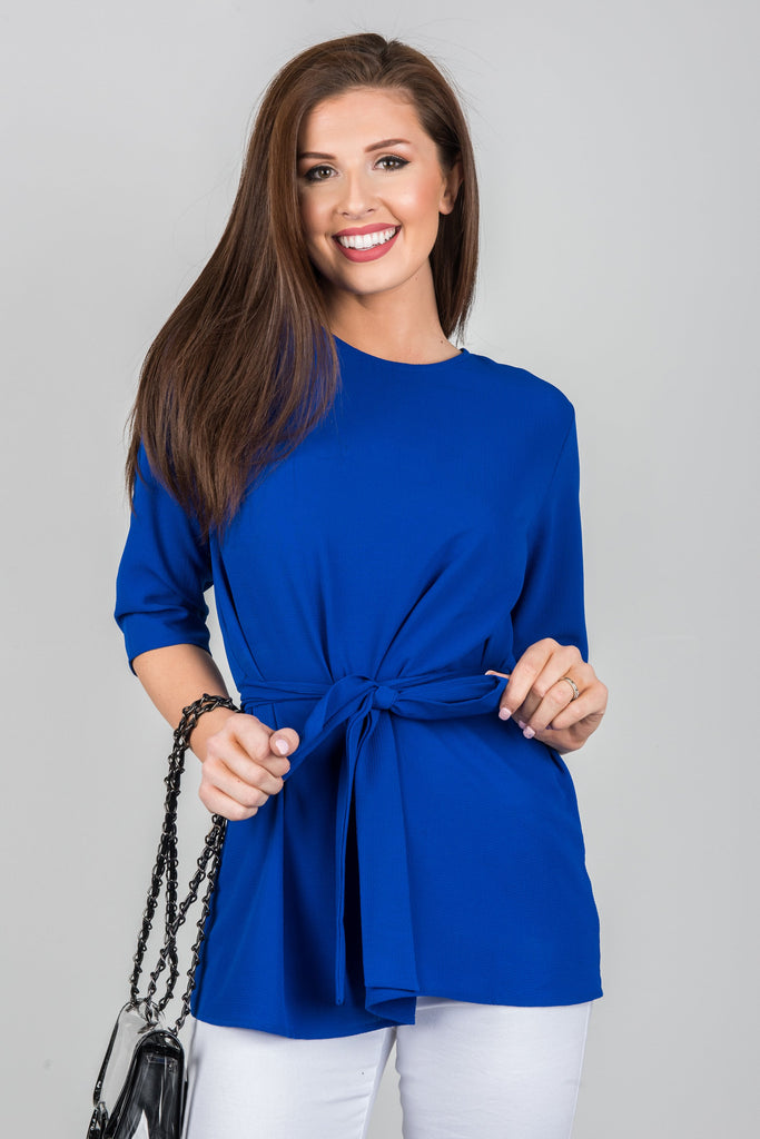 Here And There Top, Royal Blue