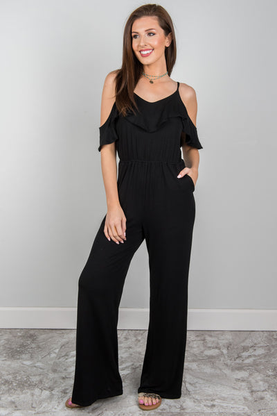 Just The Beginning Jumpsuit, Black