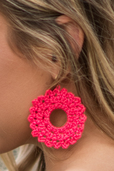 Santa Ana Earrings, Fuchsia