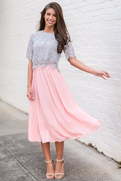 Beautiful Moment Midi Skirt, Peach