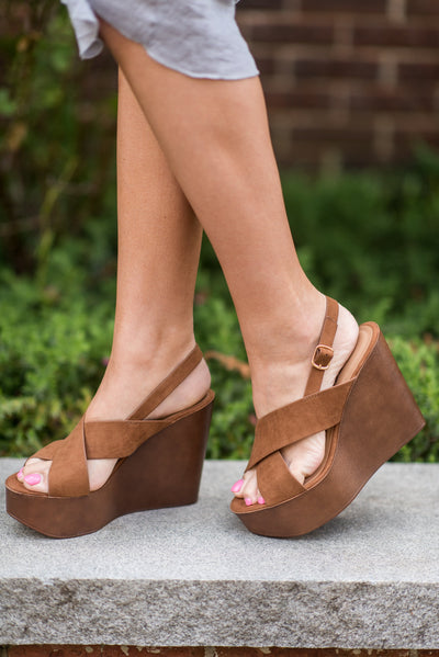Got You Covered Wedges, Light Tan