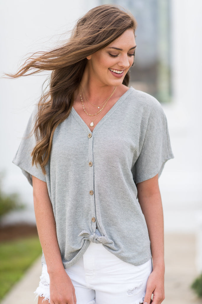 Best Of The Best Top, Heather Gray