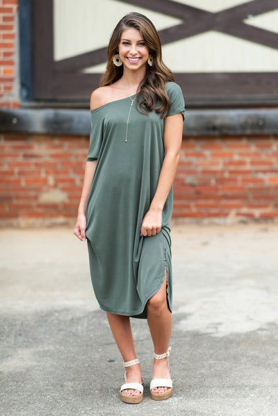 Feel The Connection Dress, Olive