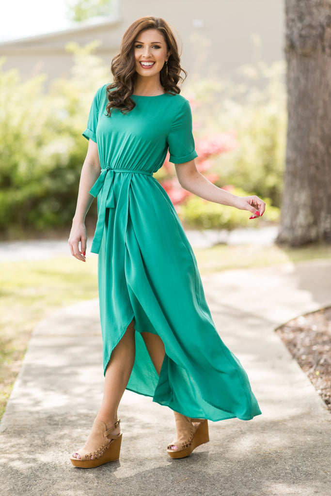 Chasing Beauty Maxi Dress Kelly Green The Mint Julep