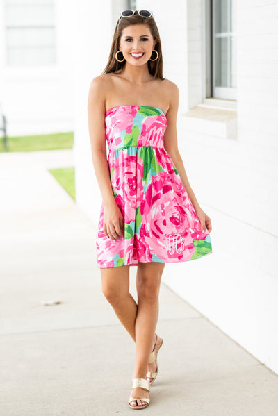 Down By The Water Dress, Rose Garden
