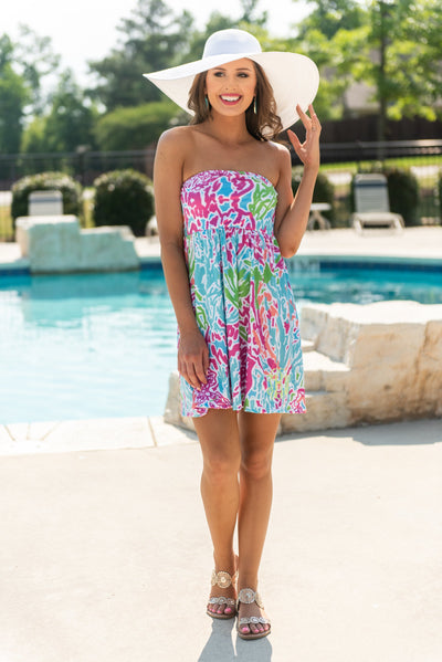 Down By The Water Dress, Coral Reef