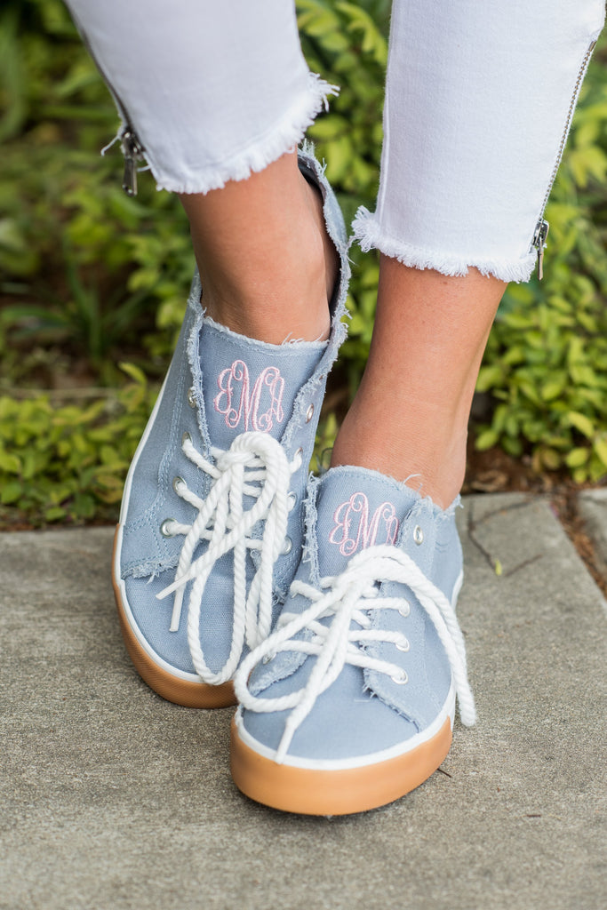 Spring Vacation Sneakers, Denim Blue