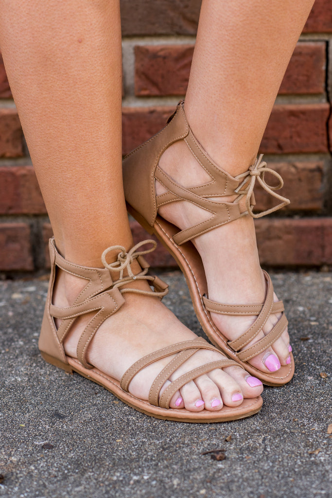Here's Your Chance Sandals, Tan