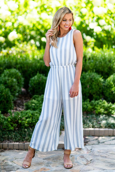 Beach Chick Jumpsuit, Blue
