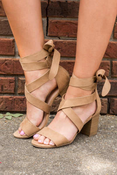 Powerful Beauty Heels, Camel