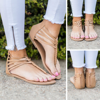The Perfect Moment Sandals, Tan