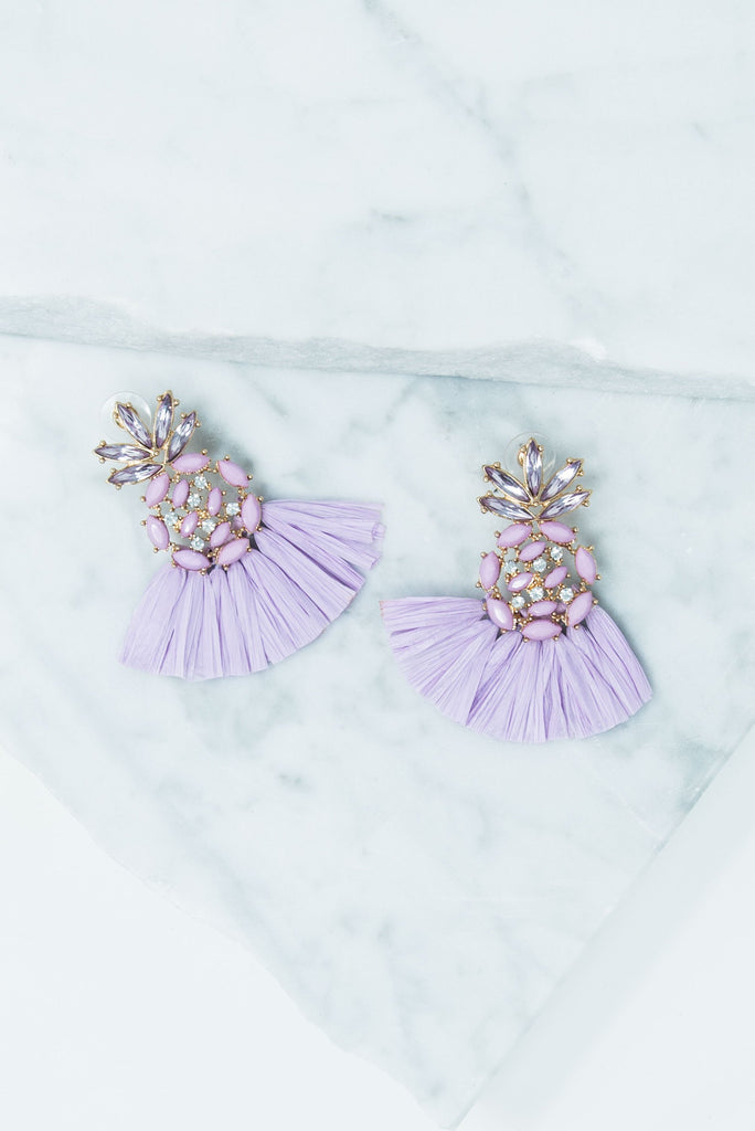 All You Need Earrings, Lilac
