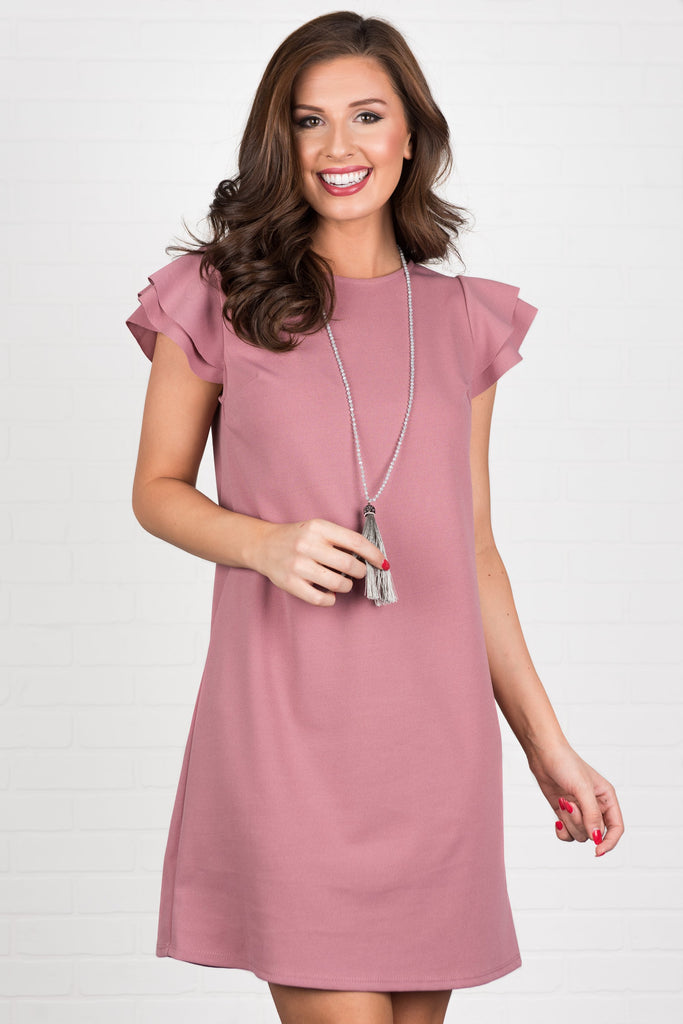 Beauty Bound Dress, Mauve