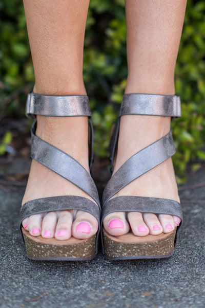 Living Life Wedges, Pewter