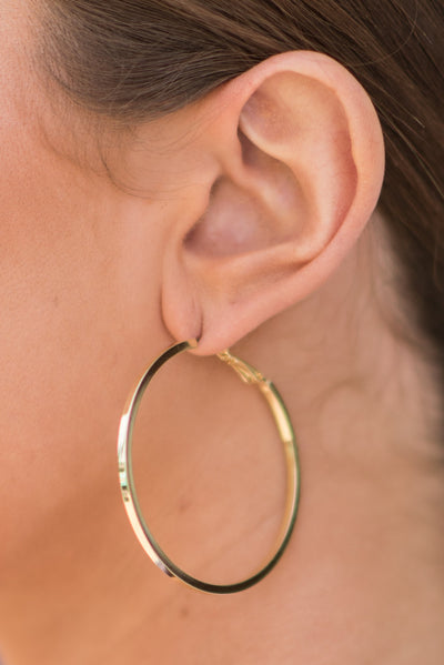 On The Edge Earrings, Gold